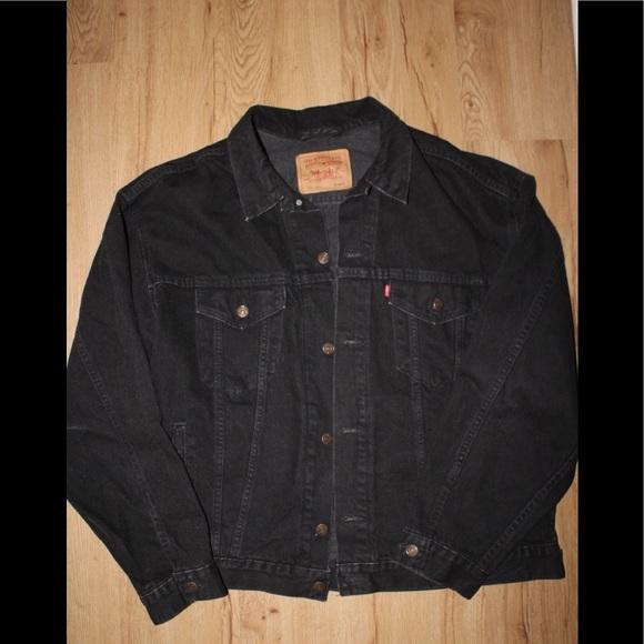 vintage levi's made in 🇺🇸 black denim jacket 🔥